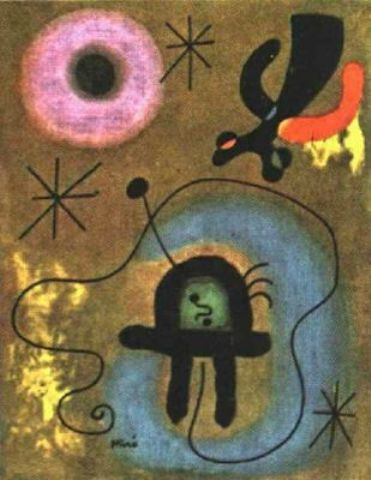 Boceto para la pared de la luna, Oil by Joan Miro (1893-1983, Spain)