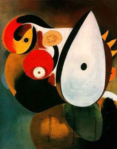 Cabeza humana, Oil by Joan Miro (1893-1983, Spain)