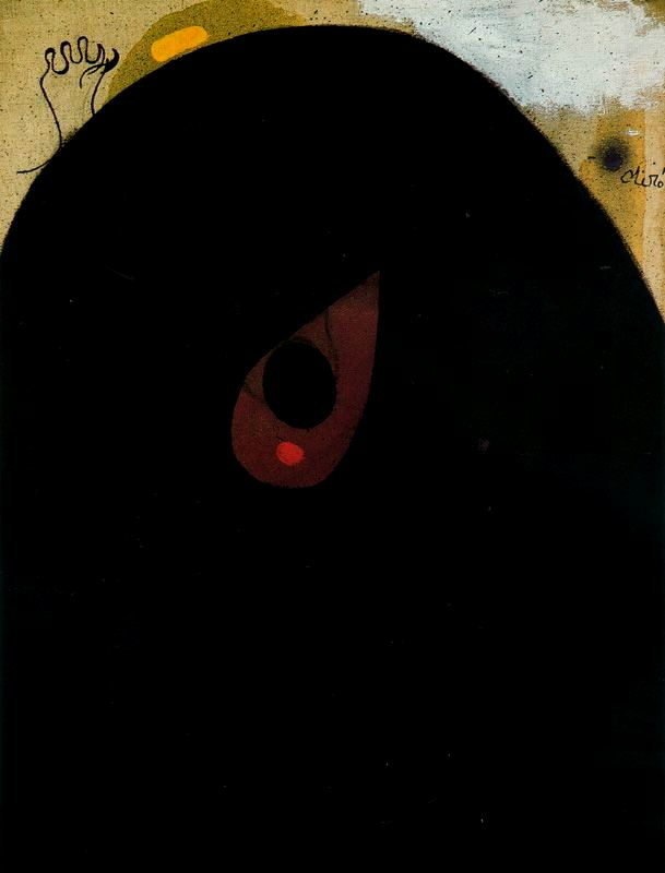 Cabeza, Oil by Joan Miro (1893-1937, Spain)