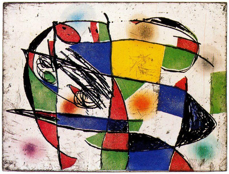Exemplar de la sèrie Enrajolats 1, Oil by Joan Miro (1893-1983, Spain)