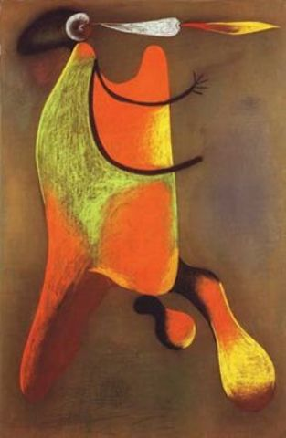 Hombre con Pipa 1, Drawing by Joan Miro (1893-1983, Spain)