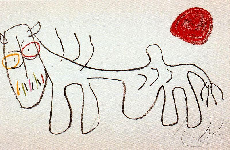 L'enfance d'Ubu 1, Drawing by Joan Miro (1893-1983, Spain)
