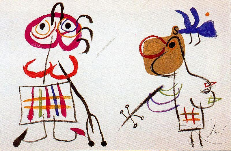 L'enfance d'Ubu 2, Oil by Joan Miro (1893-1937, Spain)