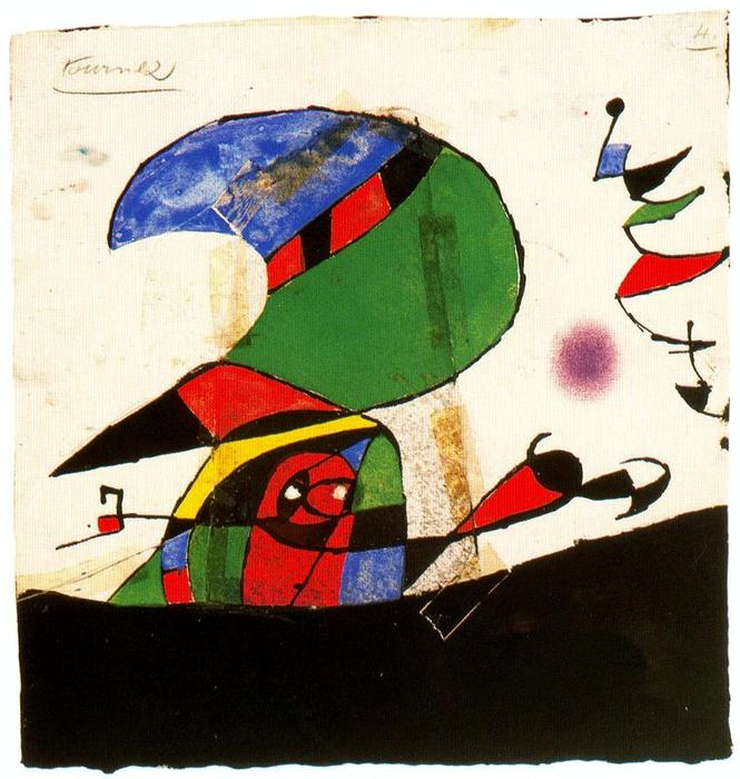 Maqueta núm. 4 de la sèrie Gaudí 1, Oil by Joan Miro (1893-1983, Spain)