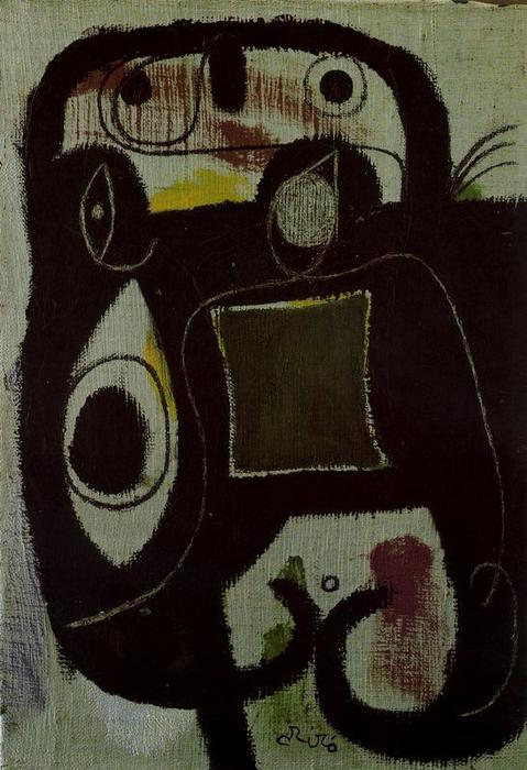 Mujer 1, Oil by Joan Miro (1893-1983, Spain)