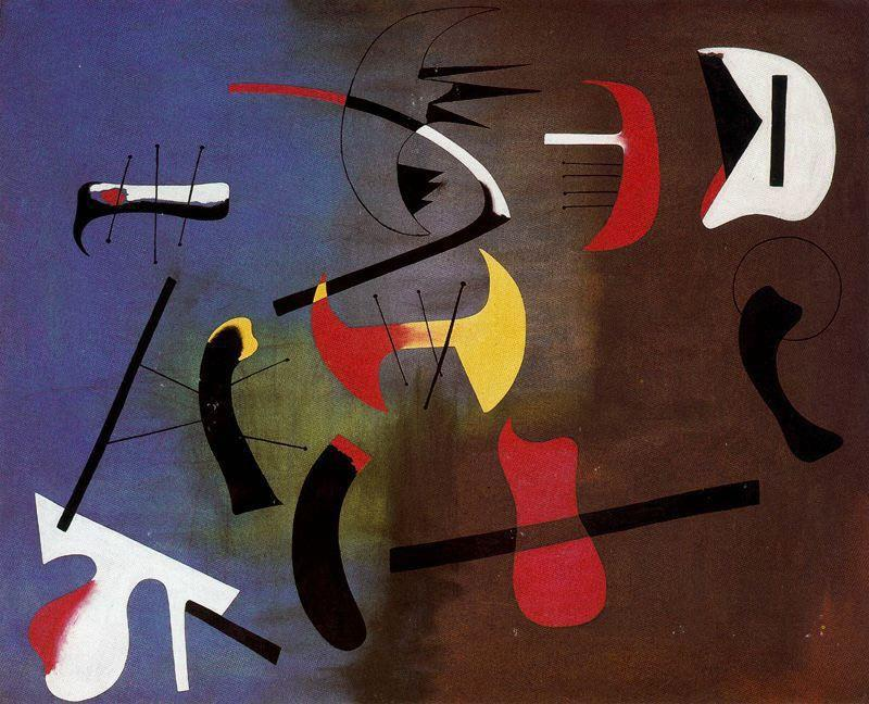 Pintura 6, Oil by Joan Miro (1893-1937, Spain)