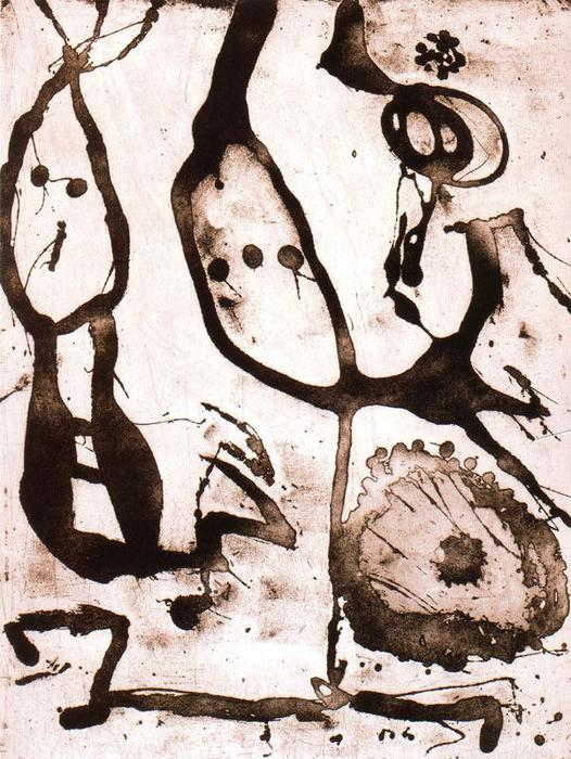 Sèrie Grans rupestres 3, Oil by Joan Miro (1893-1983, Spain)