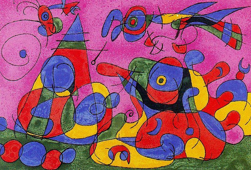 Ubu roi 3, Drawing by Joan Miro (1893-1983, Spain)