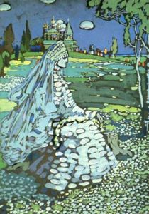 Wassily Kandinsky - Russian Beauty in a Landscape