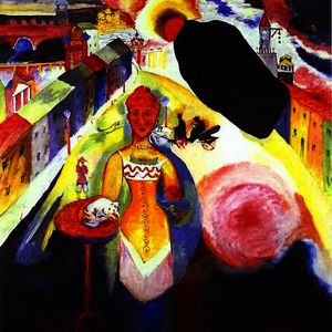 Wassily Kandinsky - Woman in Moscow