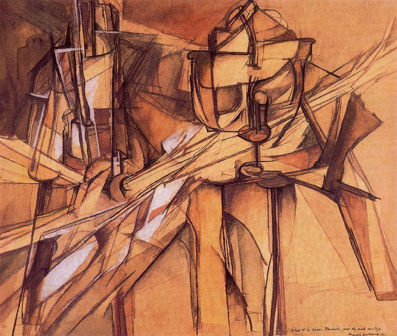 an aesthetic analysis of the red nude by marcel duchamp Marcel duchamp and the readymade marcel duchamp was a pioneer of dada  which involves the creation of an enveloping aesthetic or sensory experience in a.