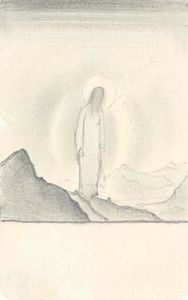 Nicholas Roerich - Sketch of Christ amidst mountains
