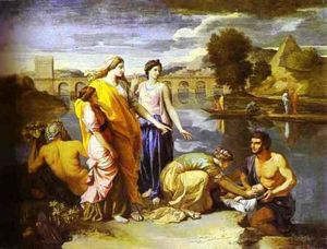 Nicolas Poussin - Pharaoh-s Daughter Finds Baby Moses