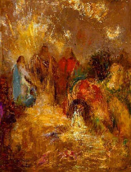 Christ and His Desciples by Odilon Redon (1840-1916, France) | Painting Copy | ArtsDot.com