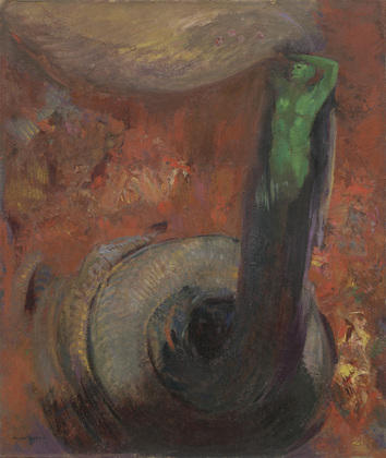 Green Death by Odilon Redon (1840-1916, France) | Museum Art Reproductions | ArtsDot.com
