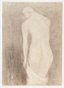 Odilon Redon - Nude Woman Seen from Behind