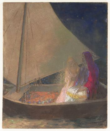The Barque by Odilon Redon (1840-1916, France) | Museum Art Reproductions | ArtsDot.com