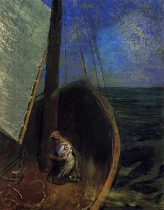 Odilon Redon - The Boat