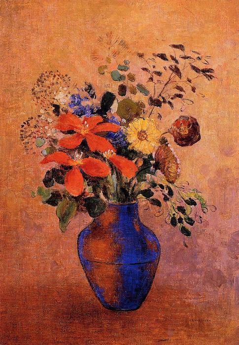 Vase Of Flowers 6 by Odilon Redon (1840-1916, France) | Art Reproduction | ArtsDot.com
