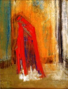 Odilon Redon - Woman in Red