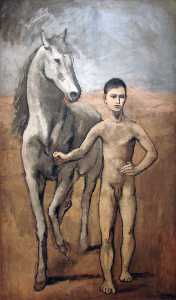 Pablo Picasso - Boy holding a horse