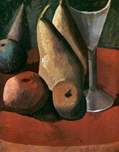 Pablo Picasso - Fruits and wine glass
