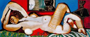 Pablo Picasso - Lying Naked woman 4