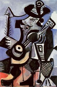 Pablo Picasso - Musician with guitar