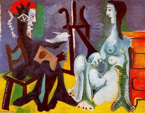 Pablo Picasso - The painter and his model 10