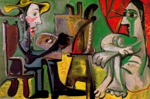 Pablo Picasso - The painter and his model 5