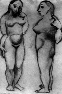 Pablo Picasso - Two naked women