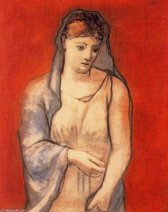 Pablo Picasso - Woman with Blue Veil