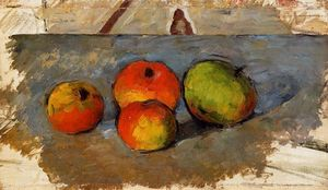 Paul Cezanne - Four Apples