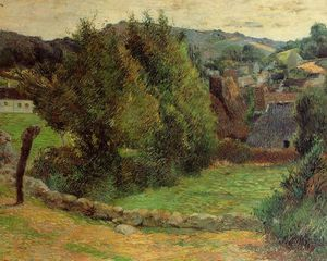 Paul Gauguin - Mount Sainte-Marguerite from near the Presbytery