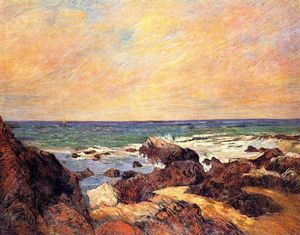 Paul Gauguin - Rocks and sea