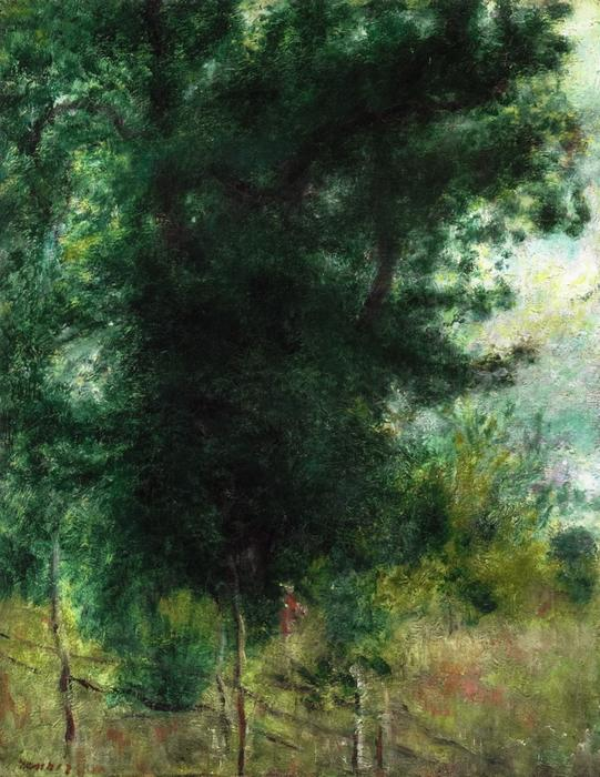 Order Oil Painting : A Fence in the Forest, 1878 by Pierre-Auguste Renoir (1841-1919, France) | ArtsDot.com