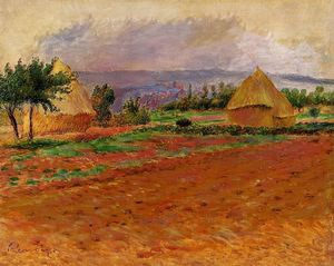 Pierre-Auguste Renoir - Field and Haystacks