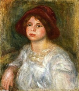 Pierre-Auguste Renoir - Girl in a Red Hat