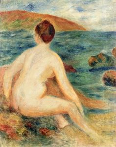 Pierre-Auguste Renoir - Nude Bather Seated by the Sea