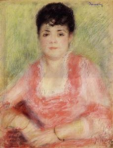 Pierre-Auguste Renoir - Portrait of a Woman in a Red Dress