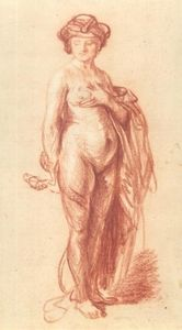 Rembrandt Van Rijn - A Nude Woman with a Snake