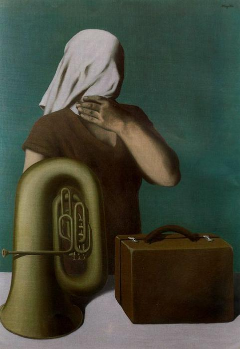 The central story by Rene Magritte (1898-1967, Belgium) | Oil Painting | ArtsDot.com