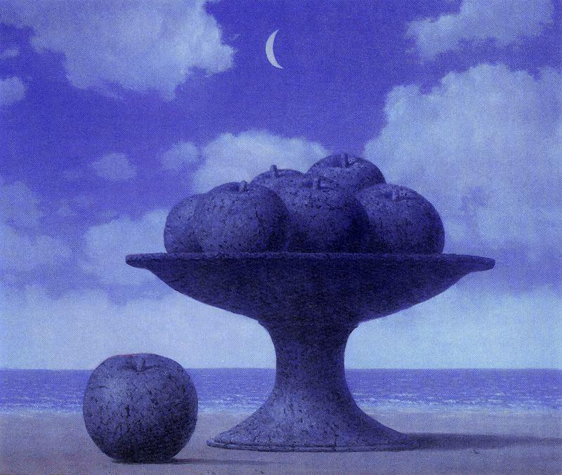 The large table, Oil by Rene Magritte (1898-1967, Belgium)