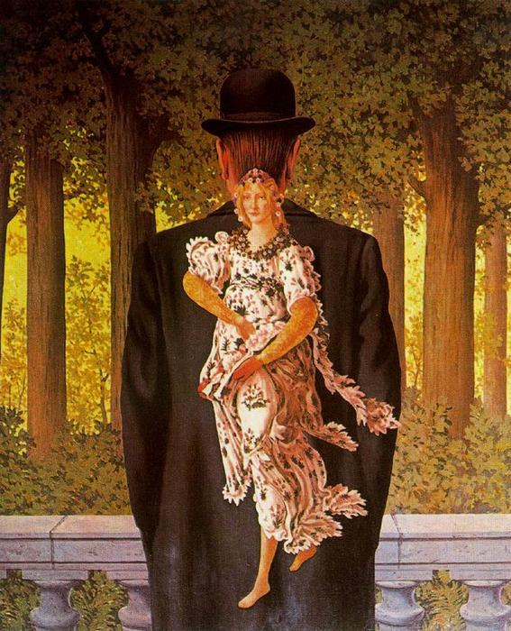 The perfect bouquet, Oil by Rene Magritte (1898-1967, Belgium)
