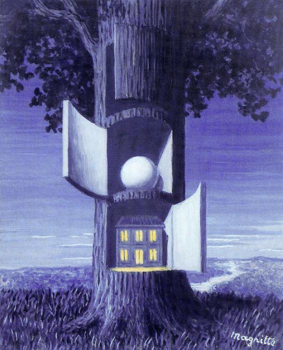 The voice of the blood 1, Oil by Rene Magritte (1898-1967, Belgium)
