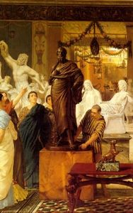 Lawrence Alma-Tadema - A Sculpture Gallery in Rome at the Time of Agrippa