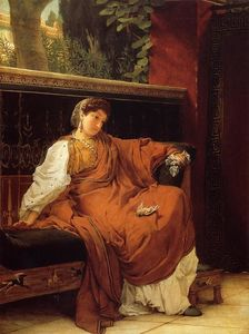 Lawrence Alma-Tadema - Lesbia Weeping over a Sparrow