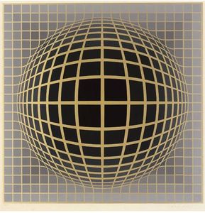 Victor Vasarely - Abstract composition 9
