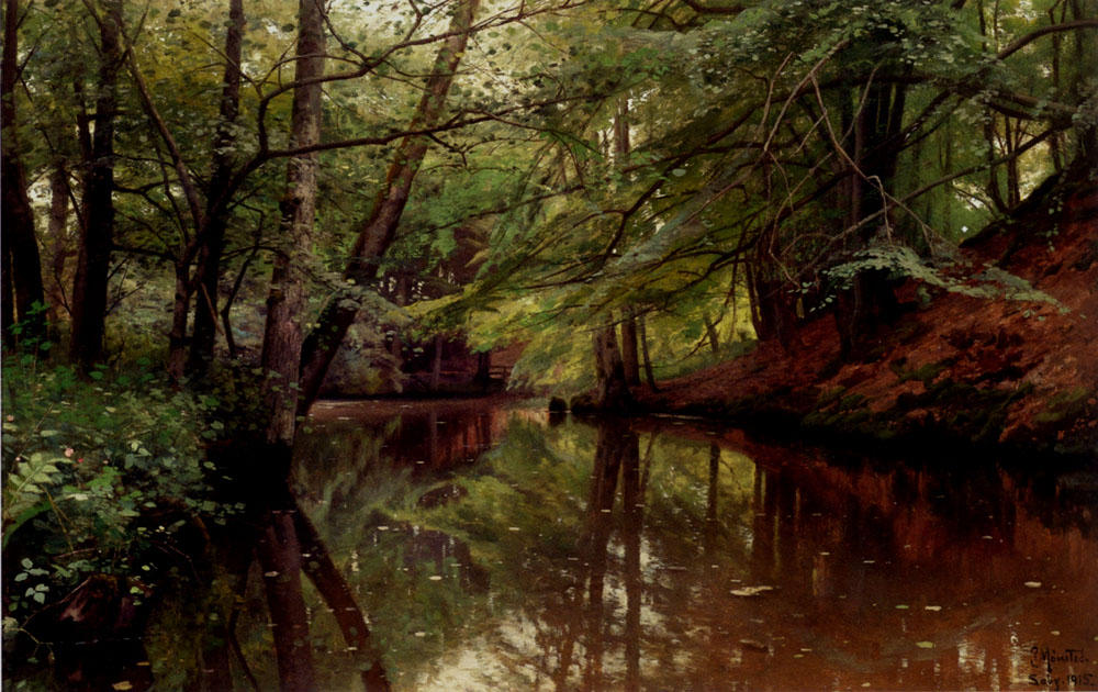 Summertime, Saeby by Peder Mork Monsted (1859-1941, Denmark) | Museum Quality Reproductions | ArtsDot.com