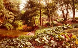 Peder Mork Monsted - The Path On The River-s Edge